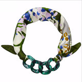 Flower Scarf Neckerchief Soft Smooth Thin Pendant Scarves