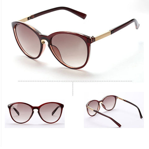 New Fashion Womens Vintage Cat Eye Round Sunglasses