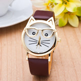 Cute Cat Watch With Glasses