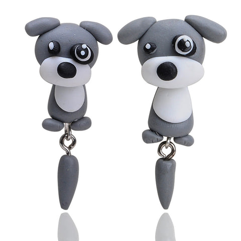 New Fashion Handmade Polymer Dogs Stud Earrings for Women Dog Lovers
