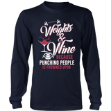 Weights And Wine Tshirt
