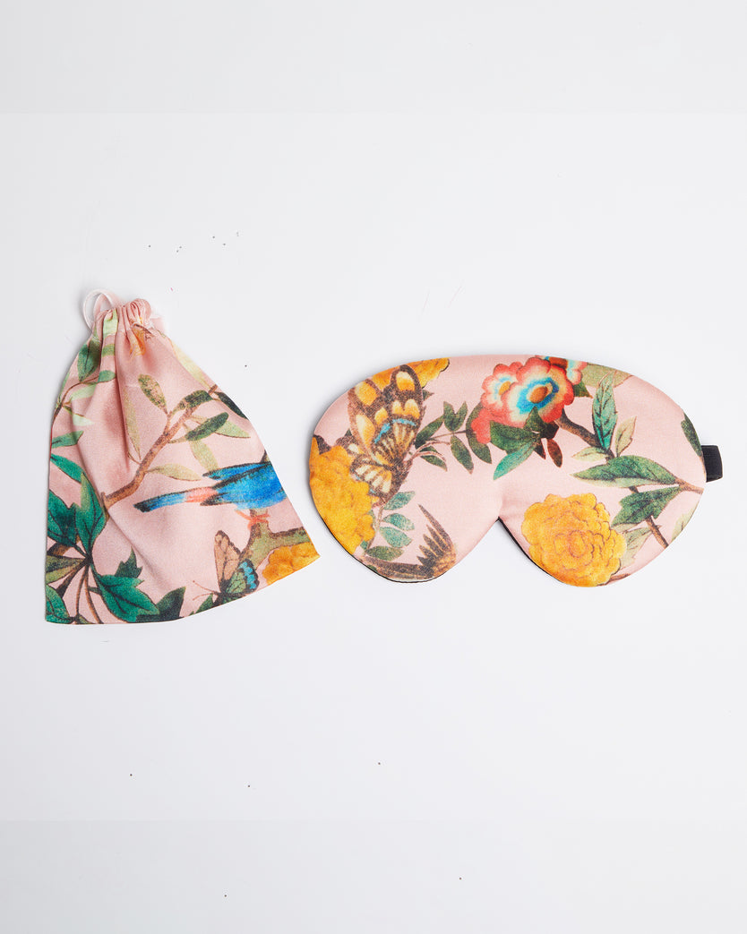Mulberry Silk Floral Eye Mask