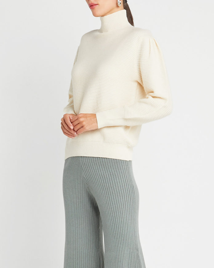 Wool Mockneck Sweater