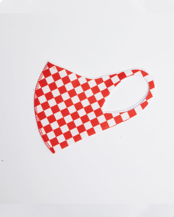 Red Checker Mask