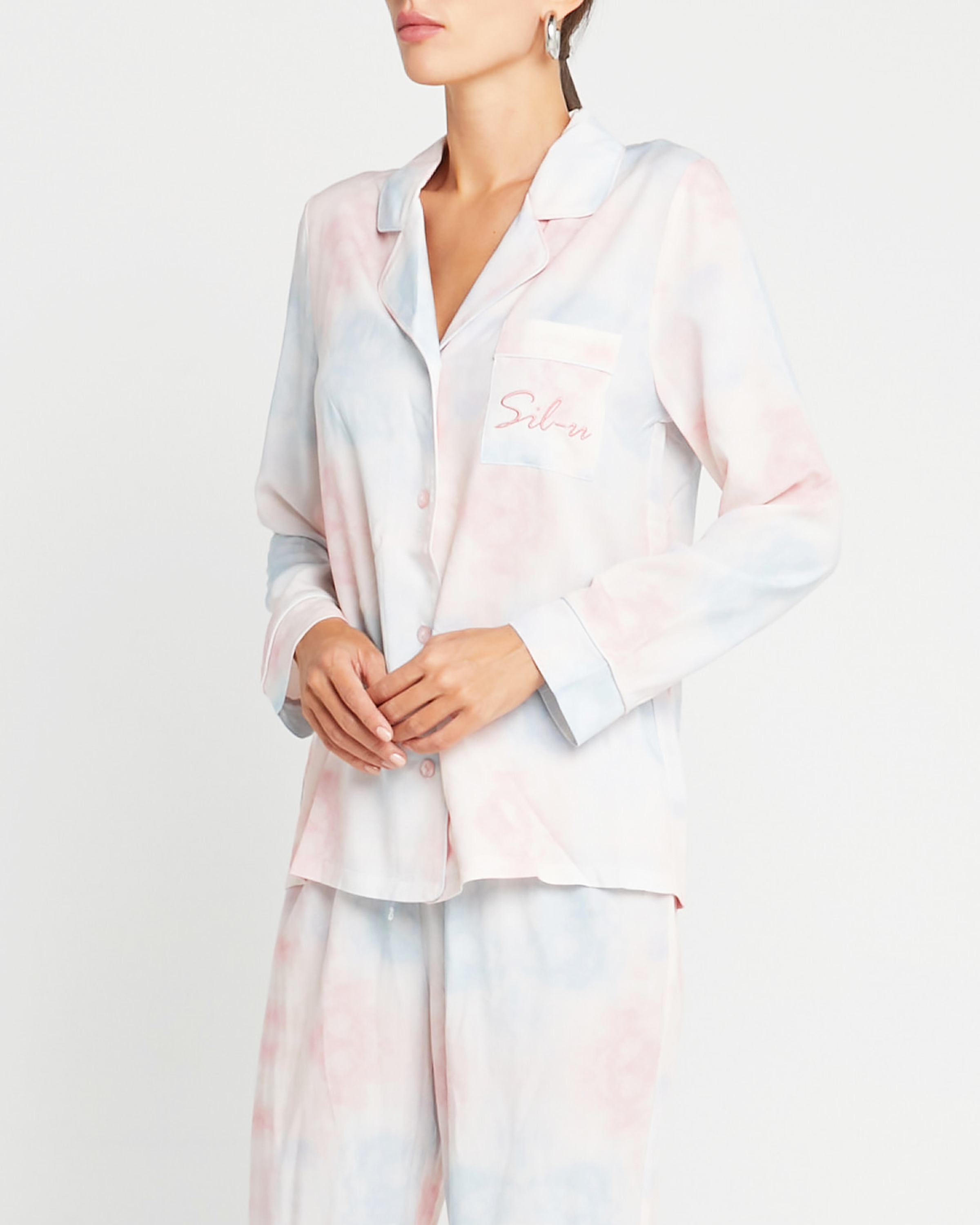 Tie Dye Long Sleeve Pajama Top