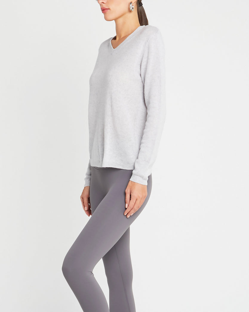 Mongolian Cashmere V-Neck Sweater
