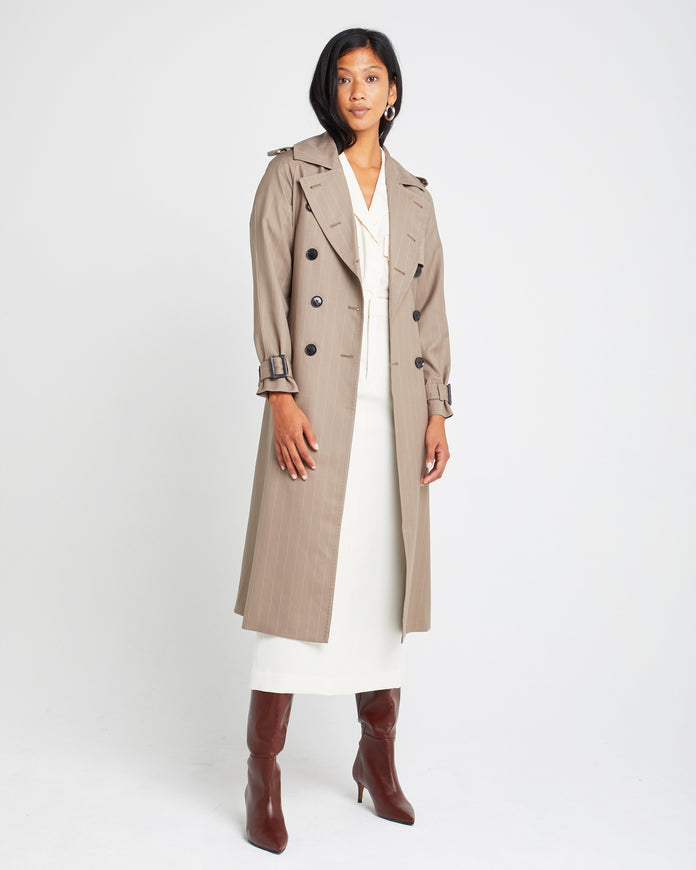Classic Double Breasted Wool Blazer Coat