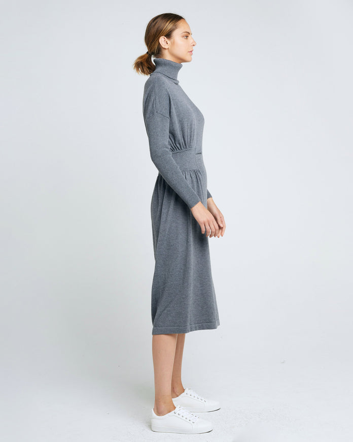 Hepburn Draped Knit Dress