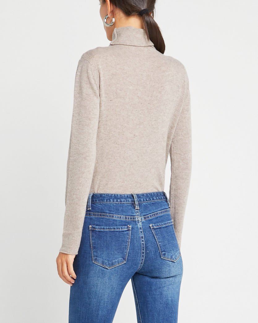 Mongolian Cashmere Fitted Turtleneck