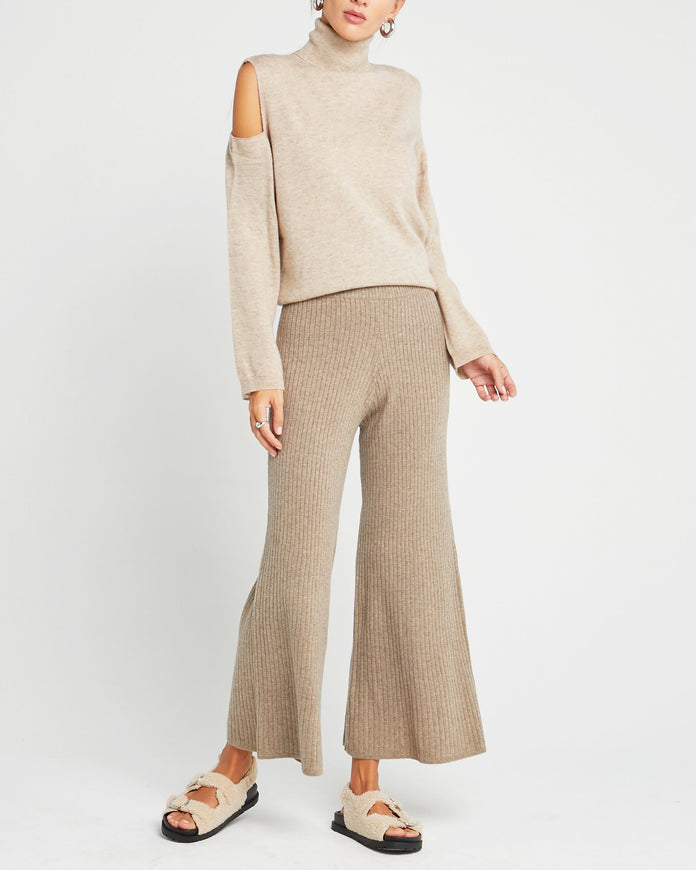 Wool and Cashmere Blend Cutout Turtleneck