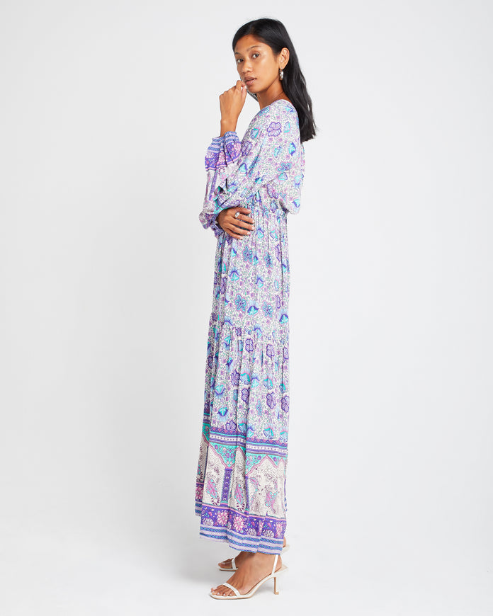 Flowy Printed Maxi Dress