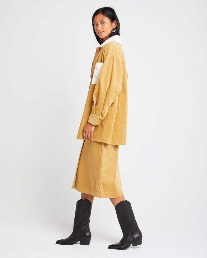 Two-tone Cotton Coat