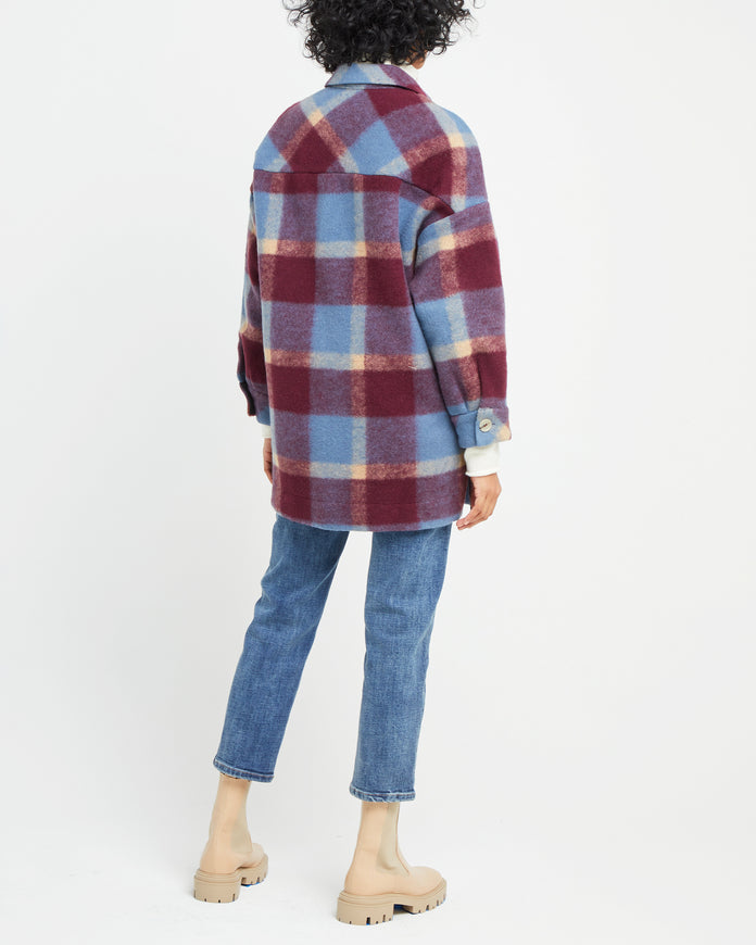 Oversized Wool Blend Flannel Shirt