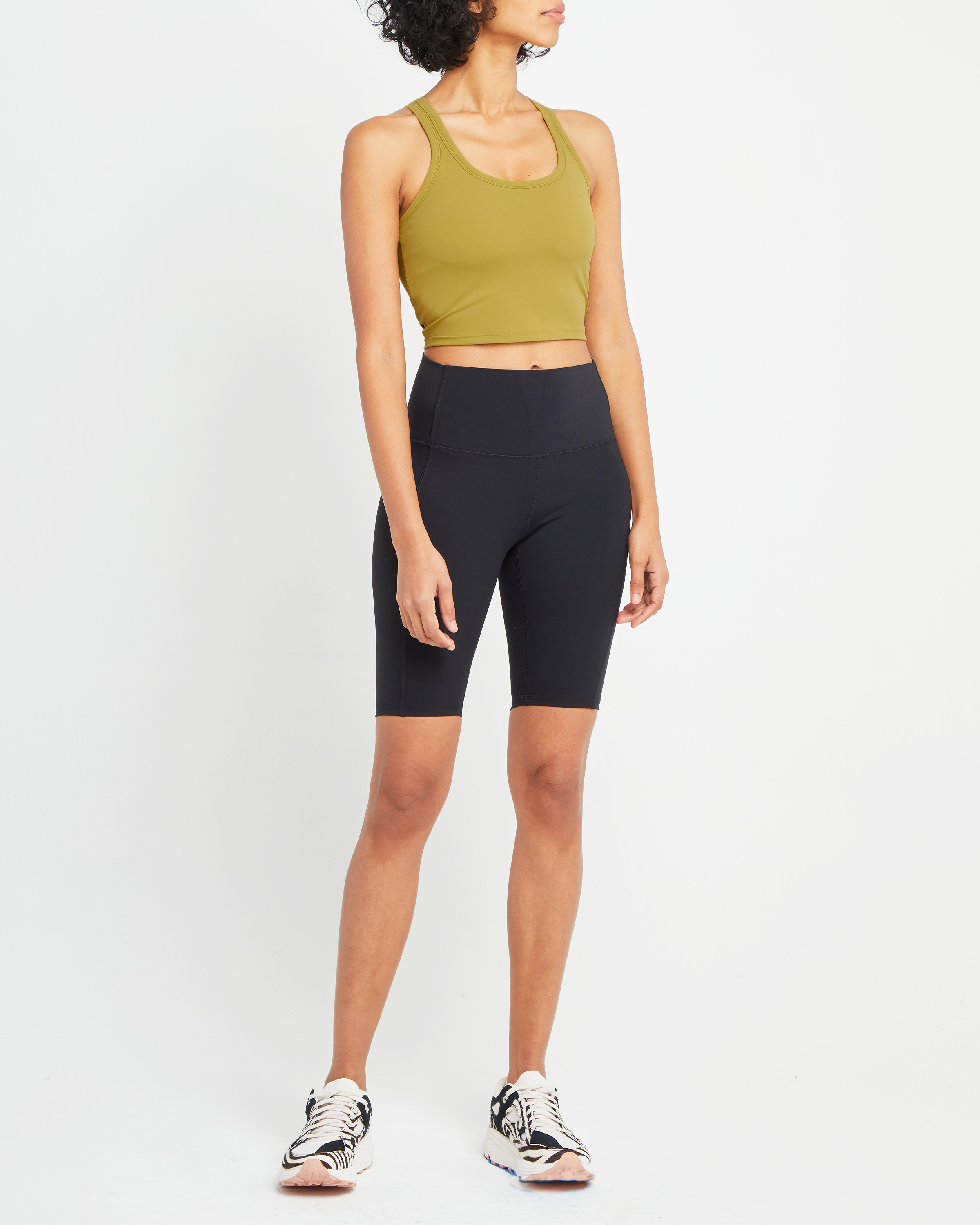 Cropped Y-Back Active Tank