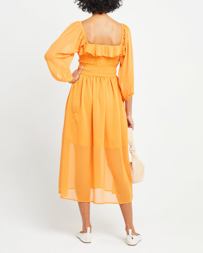 Ruffled Smocked Maxi Dress