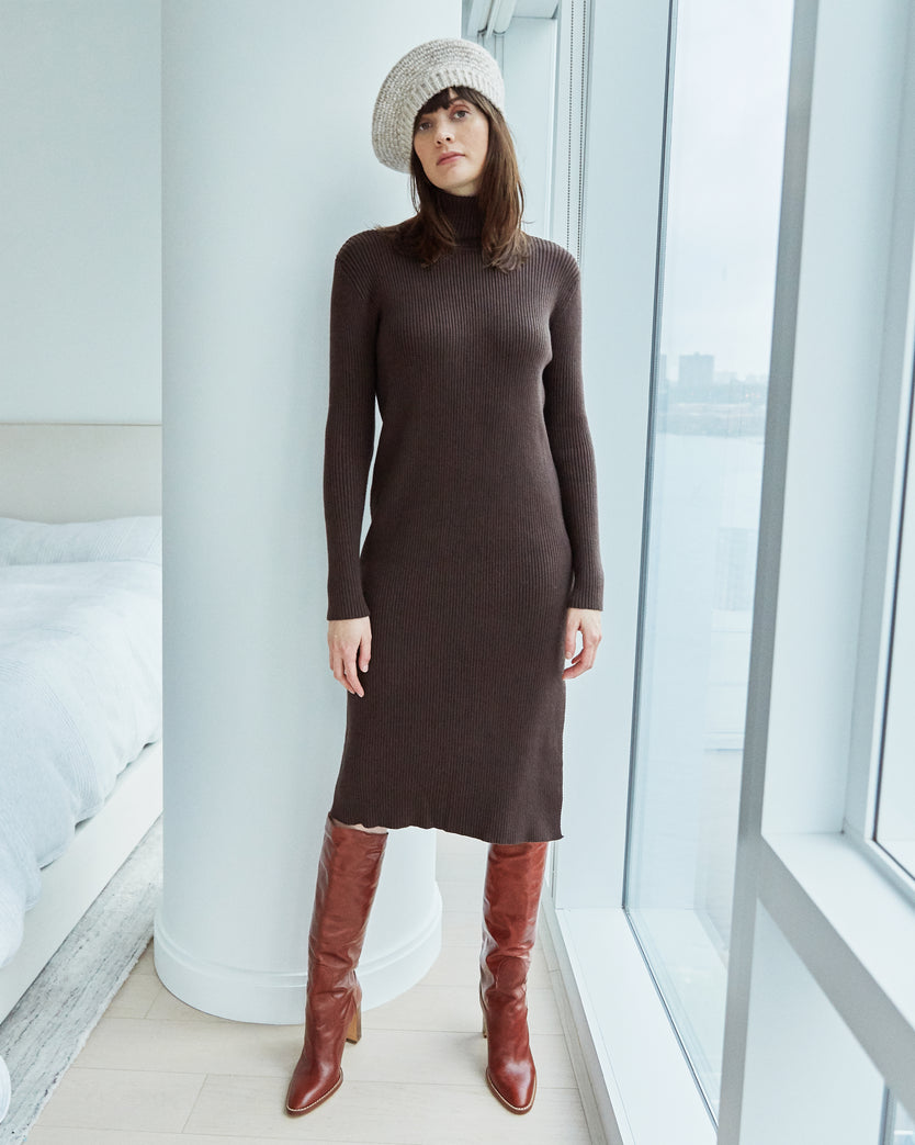 Wren Knitted Turtleneck Dress