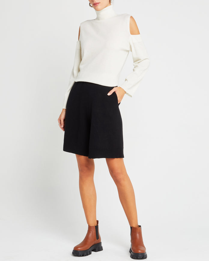 Brooklyn High-Waisted Wool Short