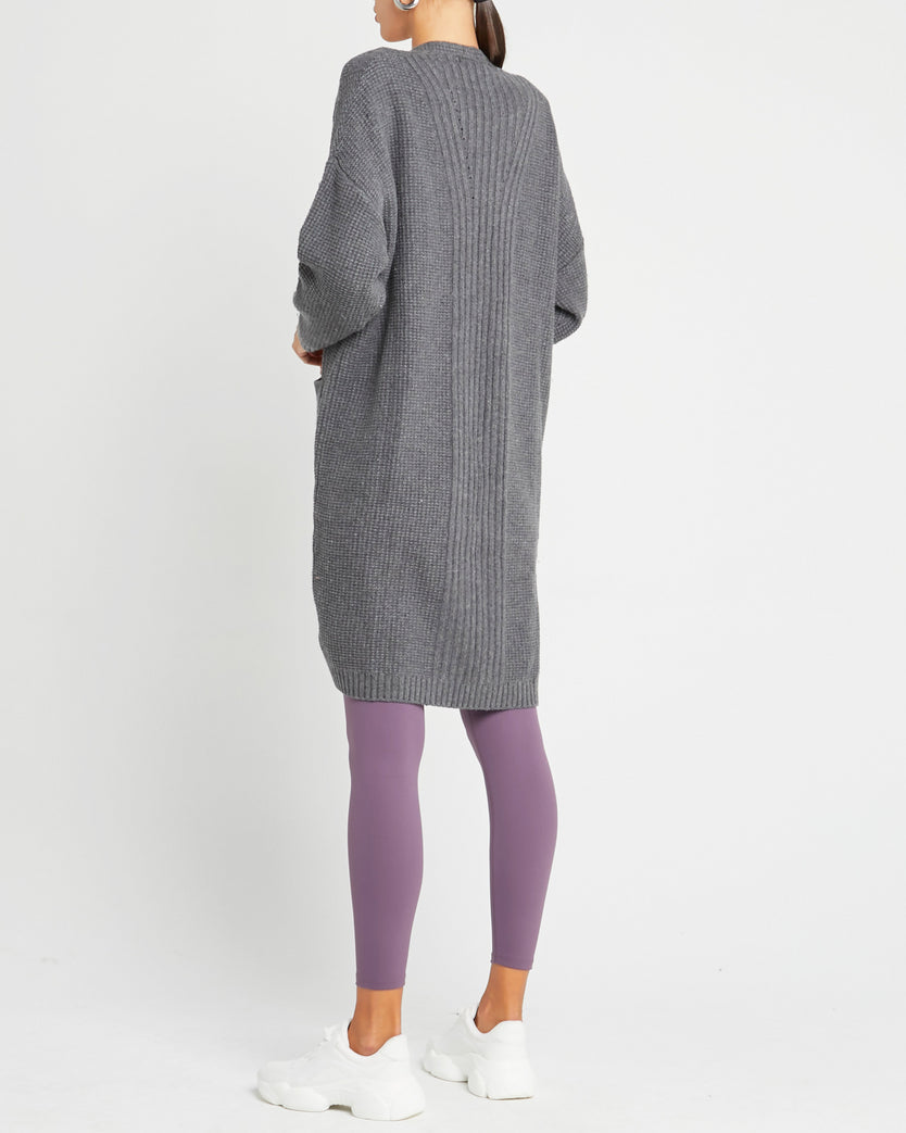 Cashmere and Wool Blend Oversized Cardigan