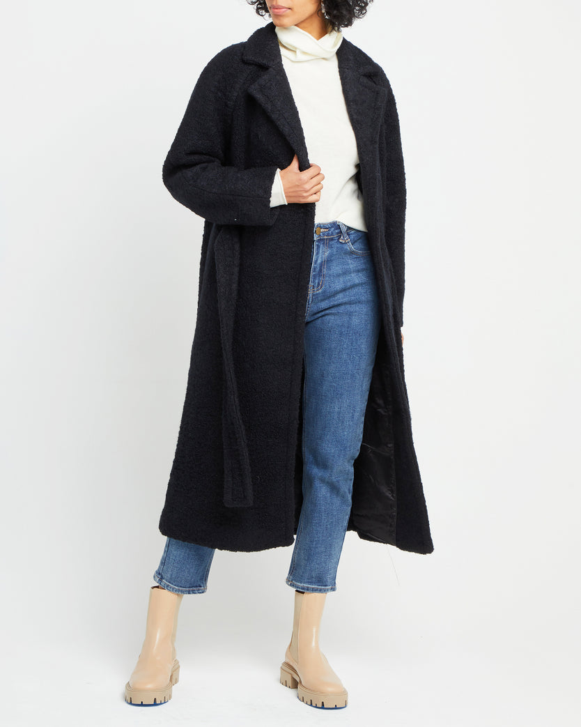 Wool Blend Belted Trench