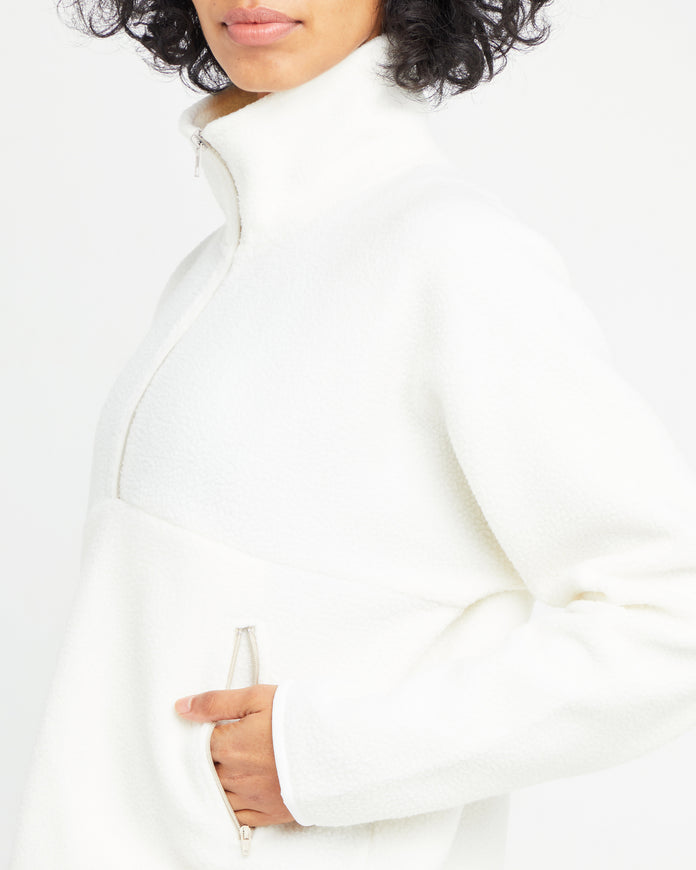 Cropped Quarter Zip Pullover