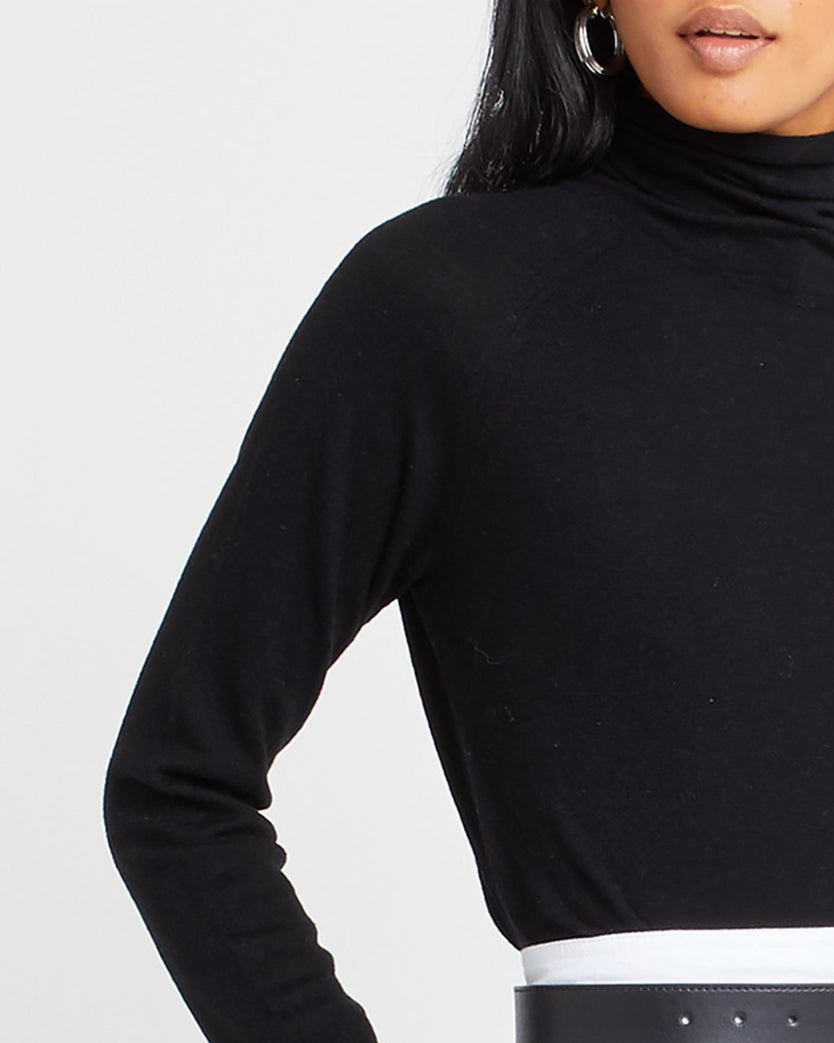 Wool Mock Neck Sweater