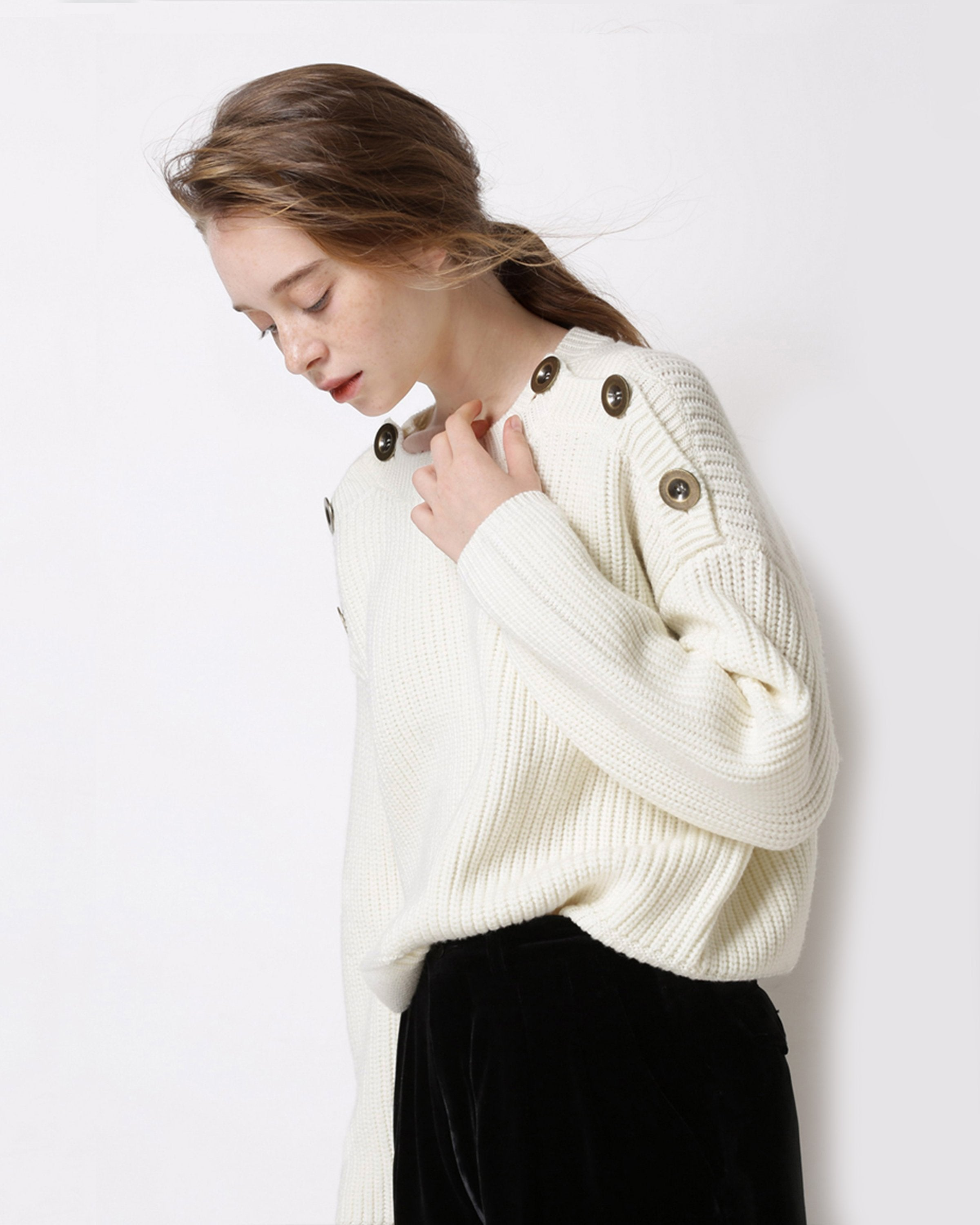 Galloway Creme Sweater