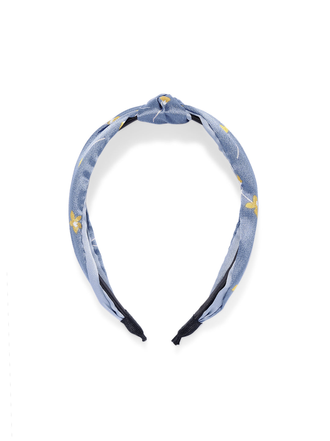Vegan Handmade Knotted Hairband in Sky Blue
