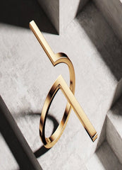 18k Gold Plated Geometry Ring - ChicMela