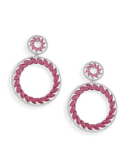 Cubic Zirconia Red Earrings - ChicMela