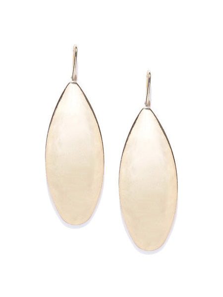 London- Geometric Shaped Oval 14k Gold Plated Drops