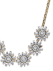 Luxe Crystal Aster Statement Necklace - ChicMela
