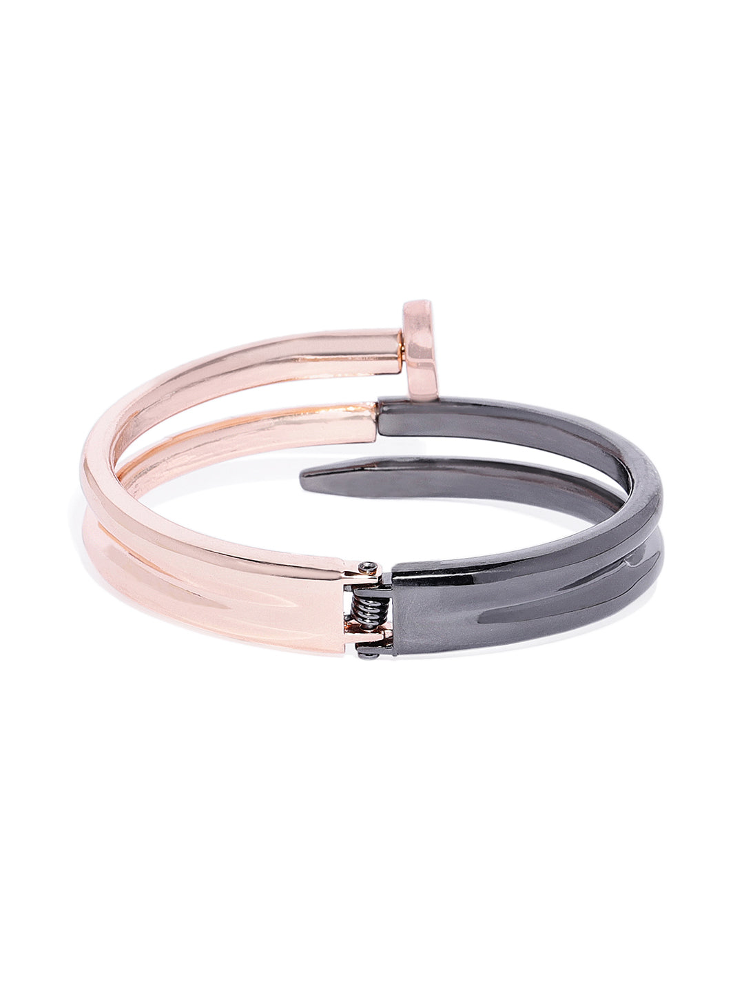 Nail Cuff in Rose Gold and Black