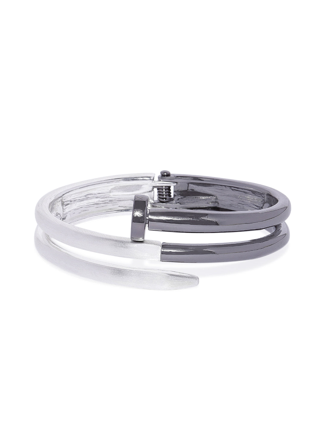 Nail Cuff in Black and Silver - ChicMela