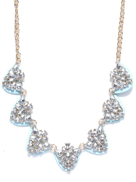 Ice Blue Collar Necklace