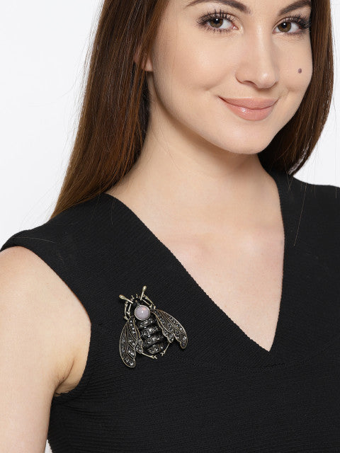 Statement Bee Brooch - ChicMela