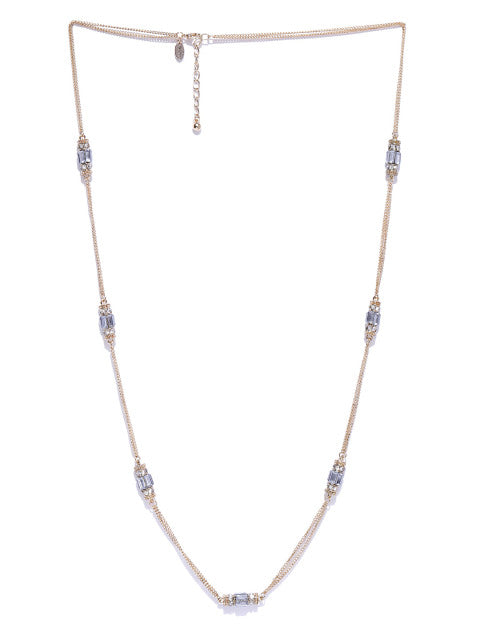 Cubic Zirconia and Crystal Necklace - ChicMela