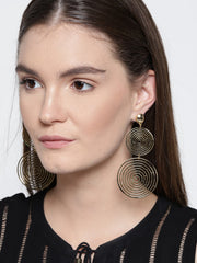 Spherical Gold Plated Earrings - ChicMela