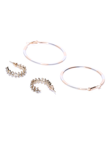 Gold and Silver Hoop Set