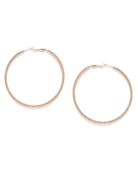 Big Matte Gold Hoops