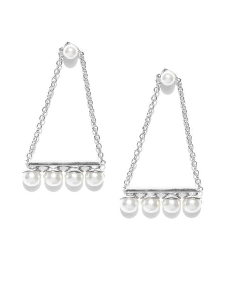 Coco 18k Silver Plated Hoops