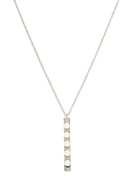Coco 18k Gold Plated Pearl Pendant Necklace