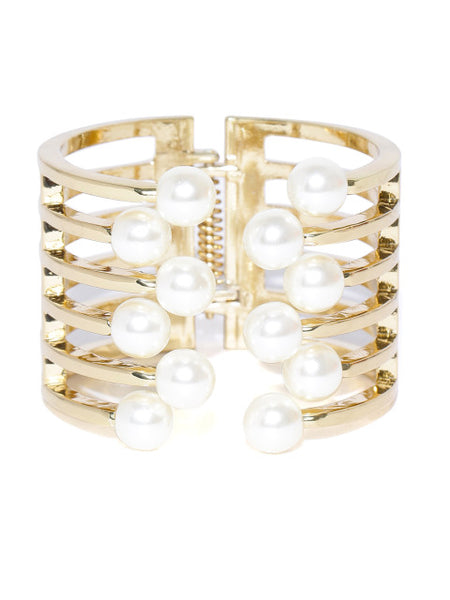 Coco 18k Gold Plated Pearl Cuff