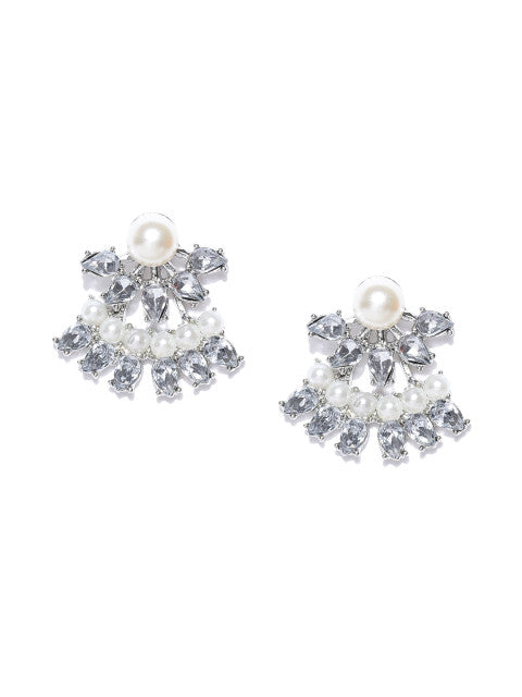 Detachable 2-in-1 Classic Pearl Ear Jackets - ChicMela