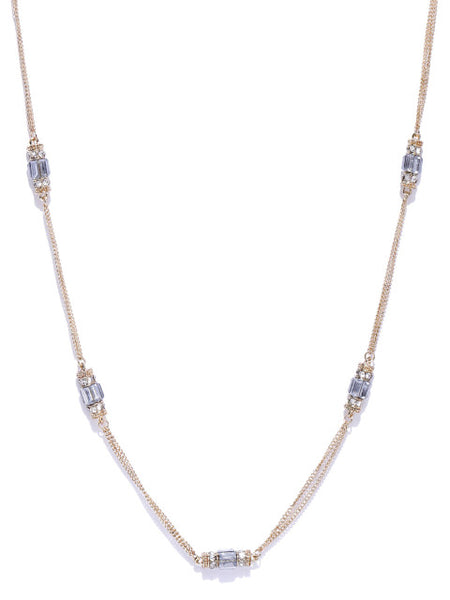 Cubic Zirconia and Crystal Necklace