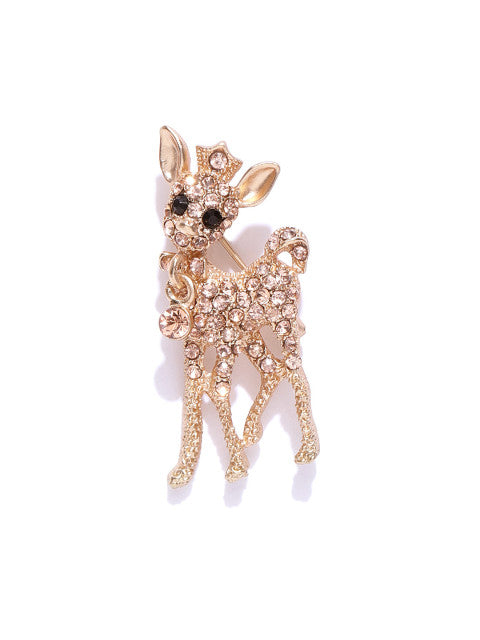 Statement Deer Brooch Pin - ChicMela