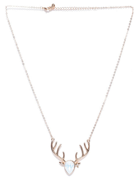My Deer Opal Collar Necklace - ChicMela