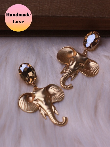 Handmade Luxe Gold Elephant Drops