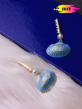 Blue Shell Earrings - ChicMela