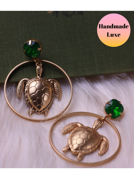 Handmade Gold Turtle Drops