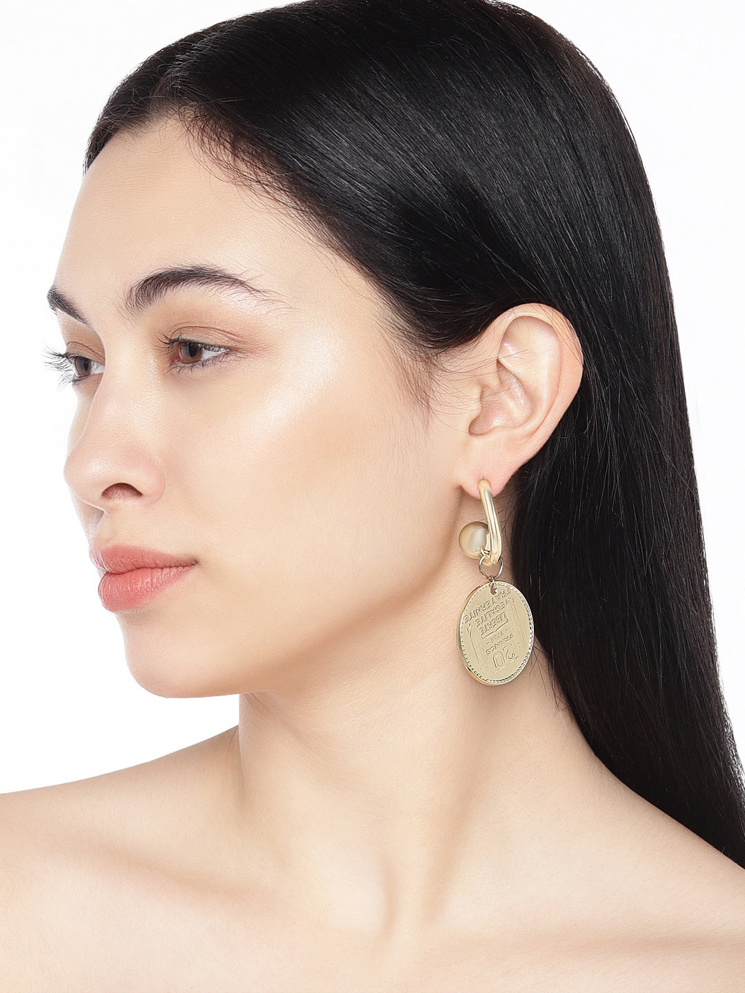 Roman Coin Gold Earrings